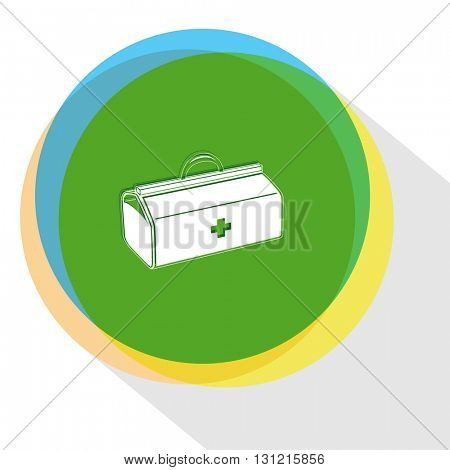 medical suitcase. Internet template. Vector icon.