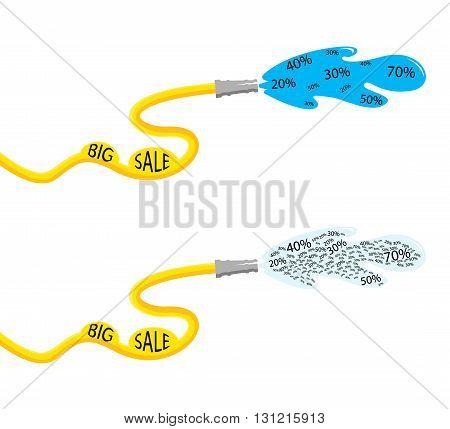 fire hose big sale on a white background
