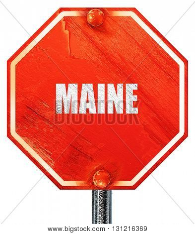 maine, 3D rendering, a red stop sign