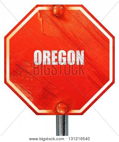 oregon, 3D rendering, a red stop sign