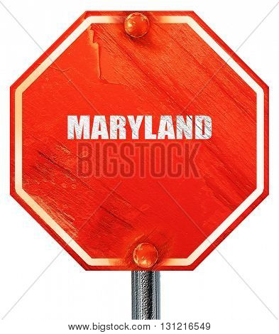 maryland, 3D rendering, a red stop sign