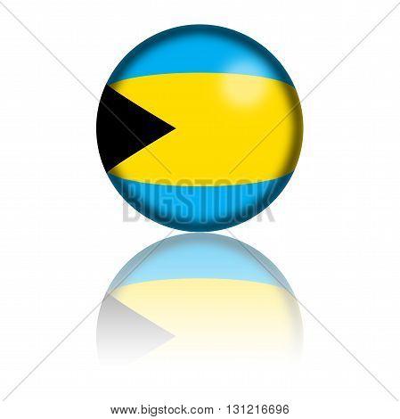 Bahamas Flag Sphere 3D Rendering
