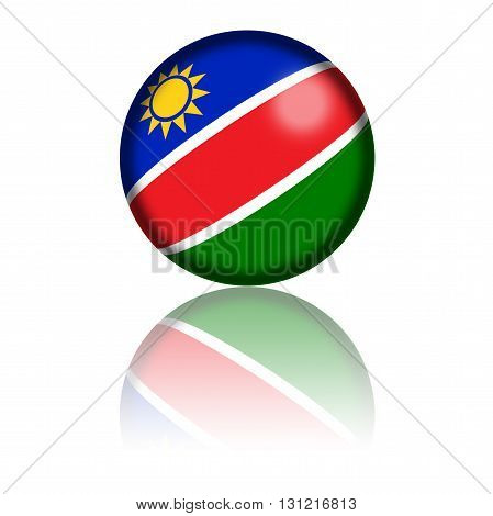 Namibia Flag Sphere 3D Rendering