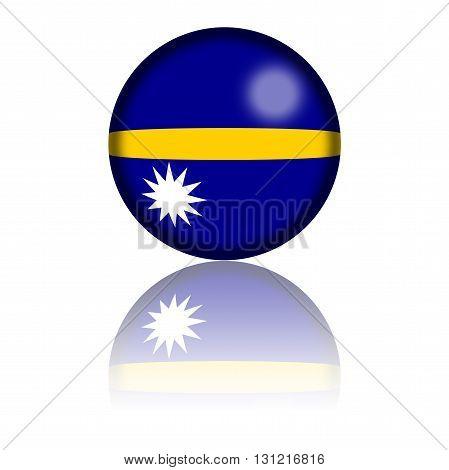 Nauru Flag Sphere 3D Rendering
