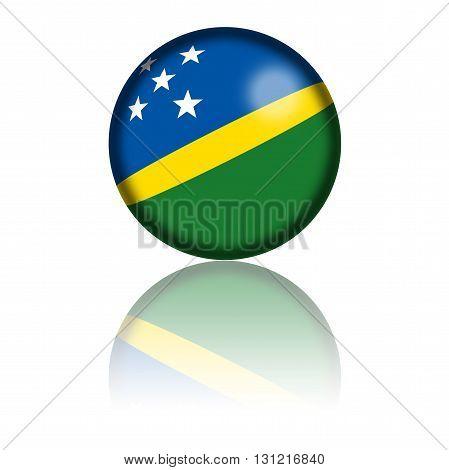 Solomon Islands Flag Sphere 3D Rendering