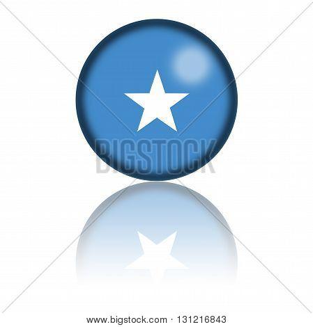 Somalia Flag Sphere 3D Rendering