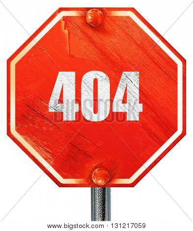 404 page, 3D rendering, a red stop sign