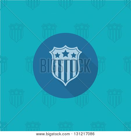 4th of July, Independence Day of the United States, Simple Flat Icon. Vector