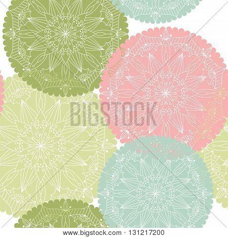 Seamless pattern with mandala. Design element for art.