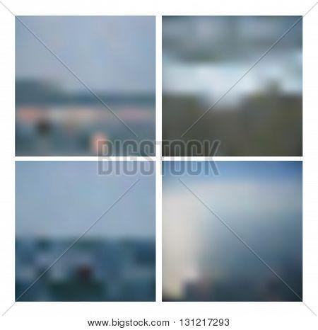 Set of blurred mesh backgrounds. EPS 10
