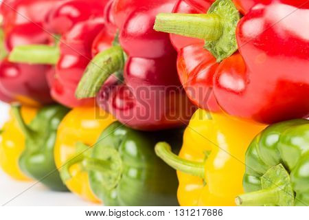 Fresh Vegetables Colorful Peppers