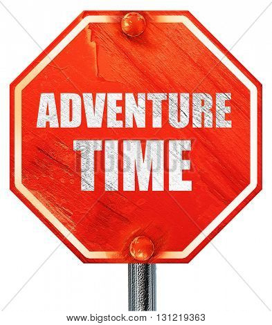 adventure time, 3D rendering, a red stop sign