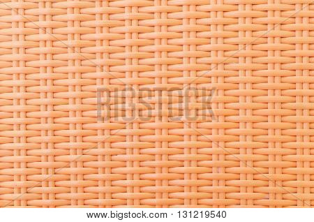 the orange synthetic rattan texture weaving background