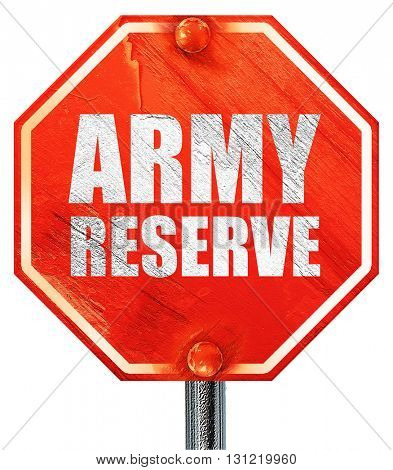 army reserve, 3D rendering, a red stop sign