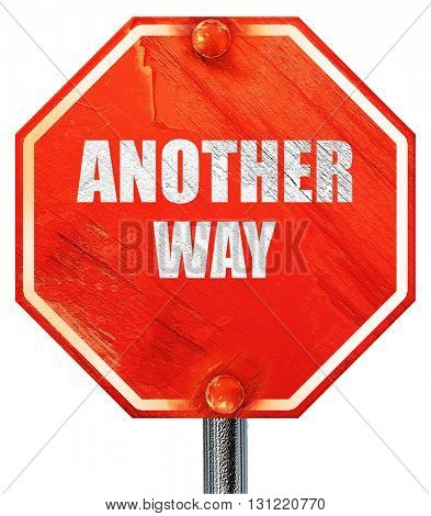 another way, 3D rendering, a red stop sign