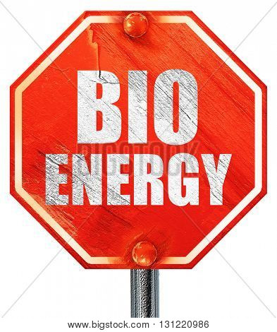 bio energy, 3D rendering, a red stop sign