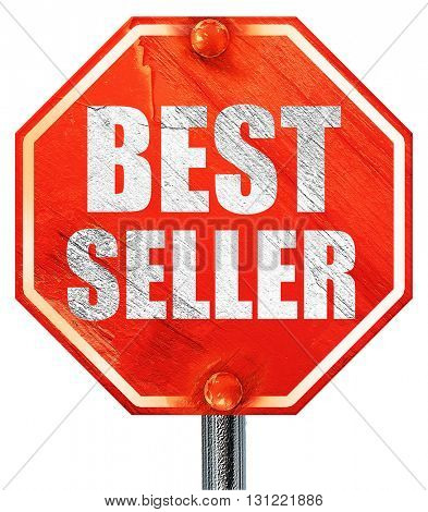 best seller, 3D rendering, a red stop sign