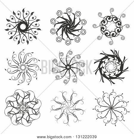 Vector Beautiful Vintage Swirl Decorative Elements and Ornaments collection, isolated on white background