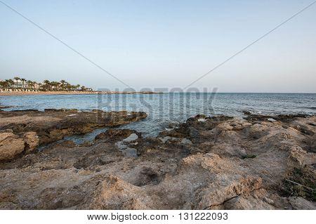 Mediterranean Coast In The Evening, Cyprus