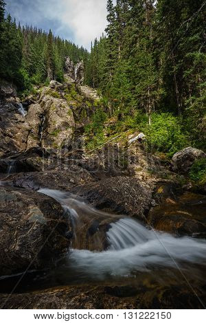 Silver Tip Falls, Wells Gray Provincial Park Near Clearwater, British Columbia, Canada