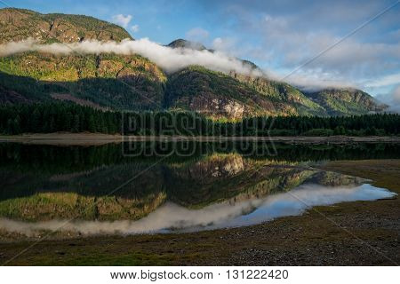 Buttle Lake Campbell River British Columbia Vancouver Island Canada Natural and Peaceful