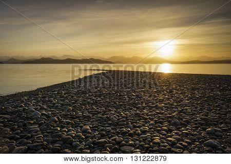 Rocky Coastline Quadra Island British Columbia Canada