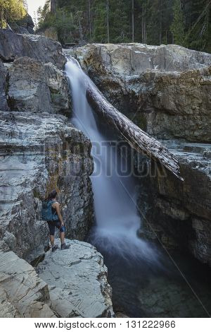 Teenager at Myra Falls, Vancouver Island, British Columbia, Canada