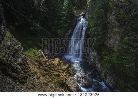 Lady Falls Waterfall near Campbell River British Columbia Canada