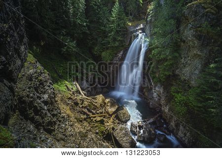 Lady Falls Waterfall Campbell River British Columbia Canada