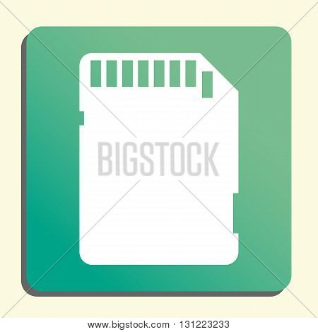 Sd Card Icon In Vector Format. Premium Quality Sd Card Symbol. Web Graphic Sd Card Sign On Green Lig