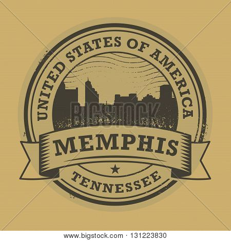 Grunge rubber stamp or label with name of Memphis, Tennessee, vector illustration
