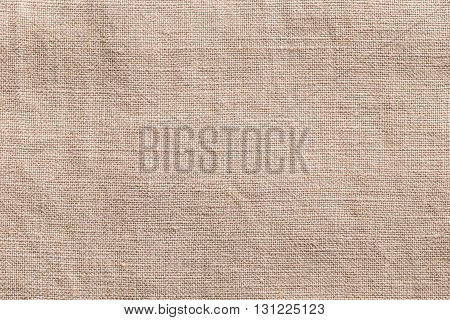 Background image with coarse canvas fabric, close up