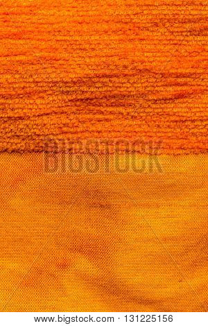 Silk and cotton striped drape background, close up