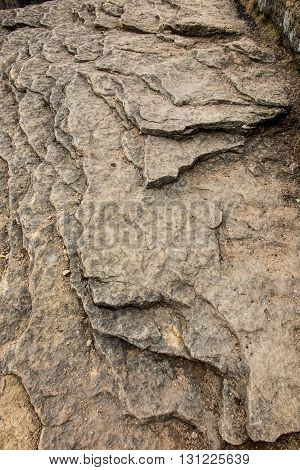 He rocks in the Beskid Slaski in Poland as a background