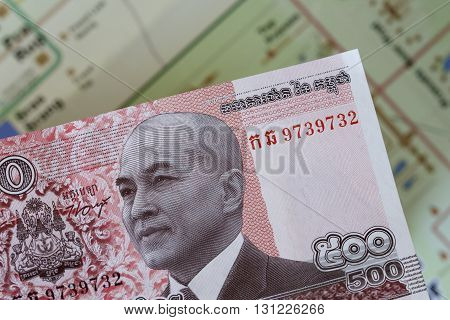 Cambodian note depicting a picture of the king, HRH Norodom Sihamoni