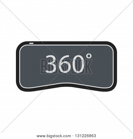 360 degrees virtual reality icon on white background