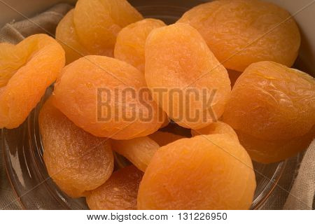 fresh tasty apricot dried close up view