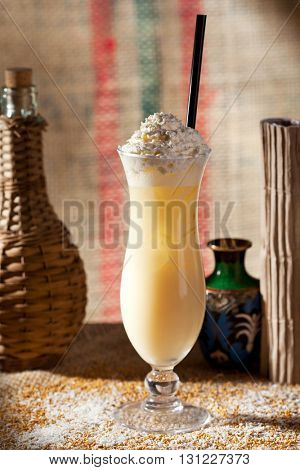 Pina Colada Topped with Whipped Cream