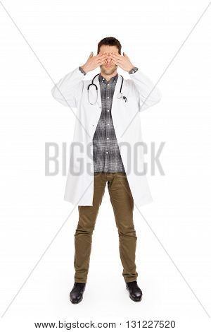 Doctor Isolated On White - Sees No Evil