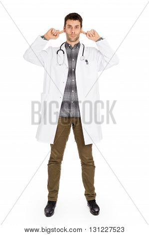 Doctor Isolated On White - Hears No Evil