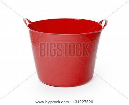 Red Color Plastic Basket
