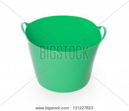 Green Color Plastic Basket