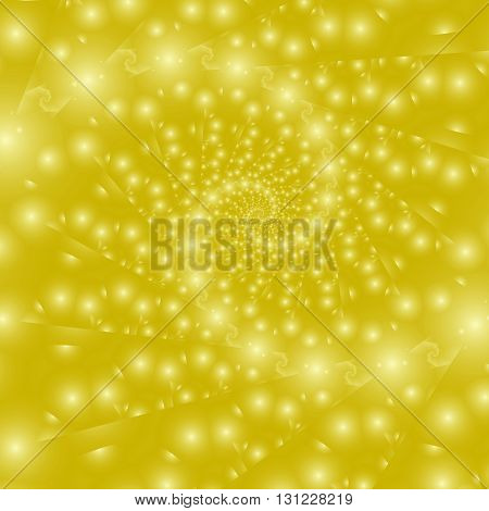 Golden swirl. Abstract fantasy fractal design for greeting cards or t-shirts.