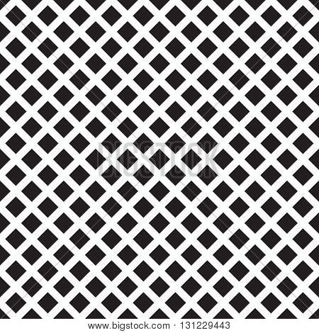 Classic abstract geometric vector seamless pattern blacn and white background