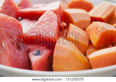 healthy fruit diet melon and papaya nice