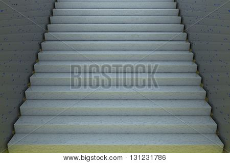 Stairs, Entire View, 3D Rendering