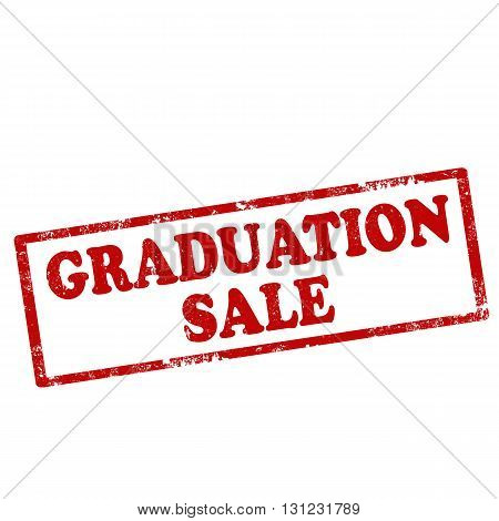 Grunge rubber stamp with text Graduation Sale,vector illustration