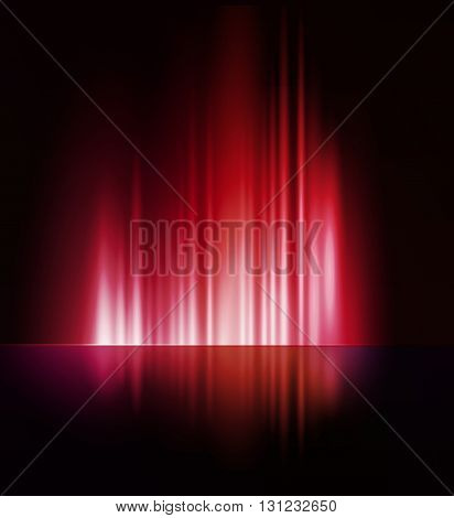 illustration Abstract dark background with shiny light lines