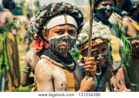 Two Friends In Papua New Guinea