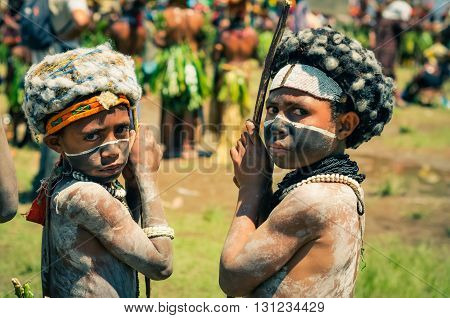 Two Boys In Papua New Guinea